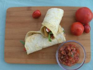 Italian Wraps mit Tomatensalsa