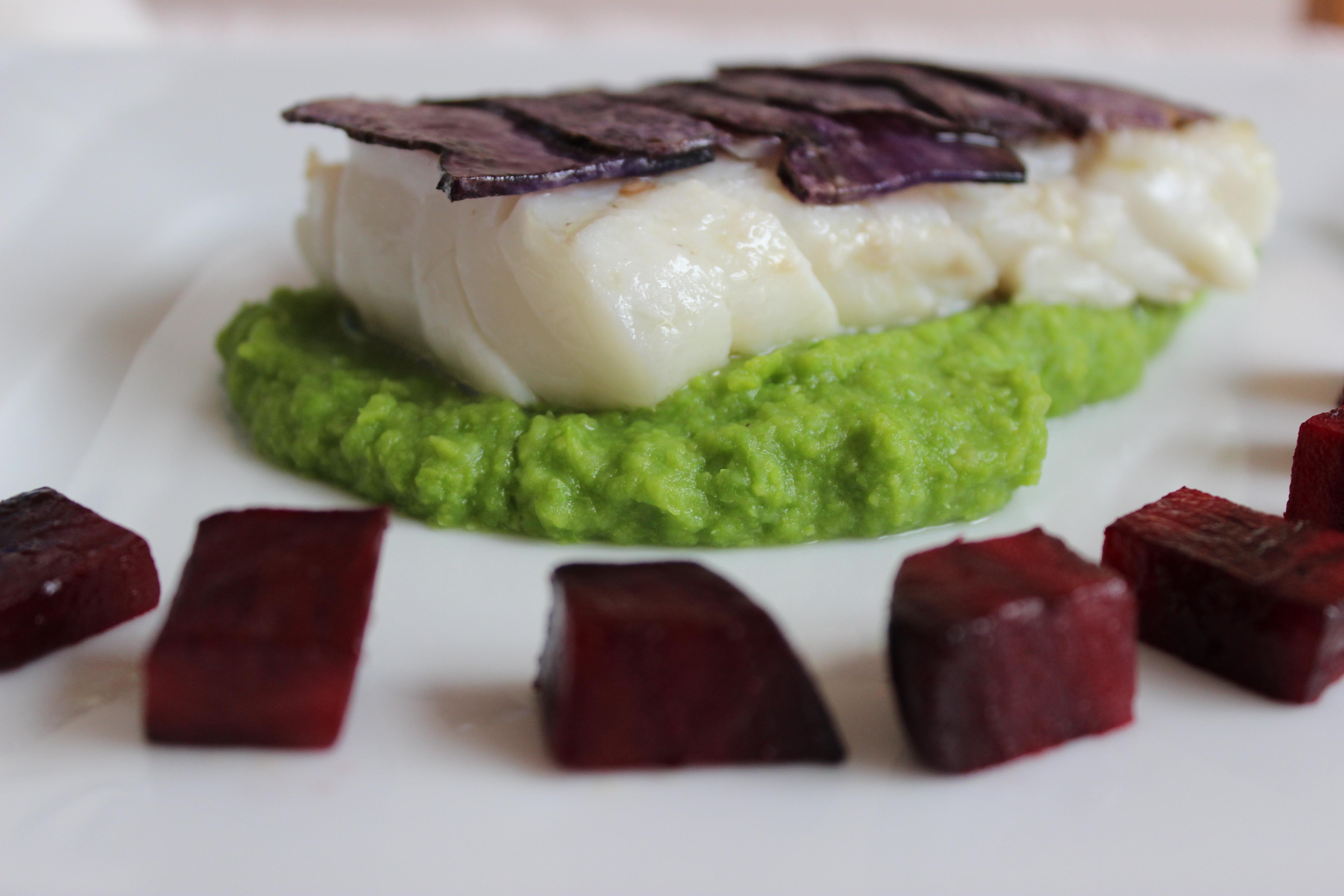 Fisch mit lila Kartoffelkruste