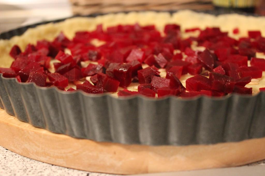 Rote-Bete-Tarte mit Feta
