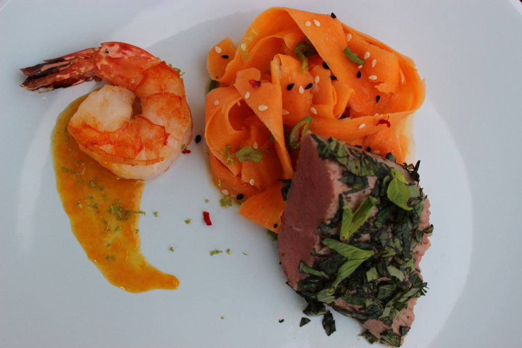 Surf and Turf mit der Kokosnuss