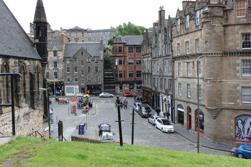 Reisebericht Edinburgh - Grassmarket street