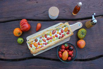 Tomaten-Filo-Pie mit Ricotta und Estragon