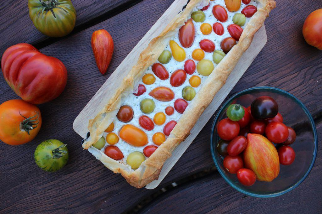 Tomaten-Filo-Pie mit Ricotta und Estragon 3