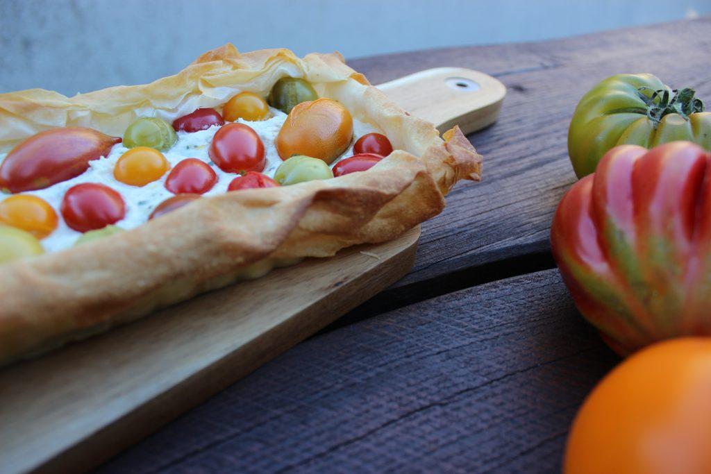 Tomaten-Filo-Pie mit Ricotta und Estragon 5