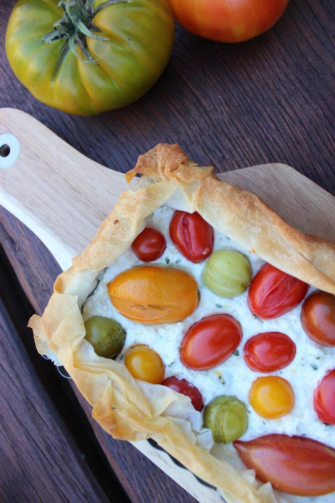Tomaten-Filo-Pie 1