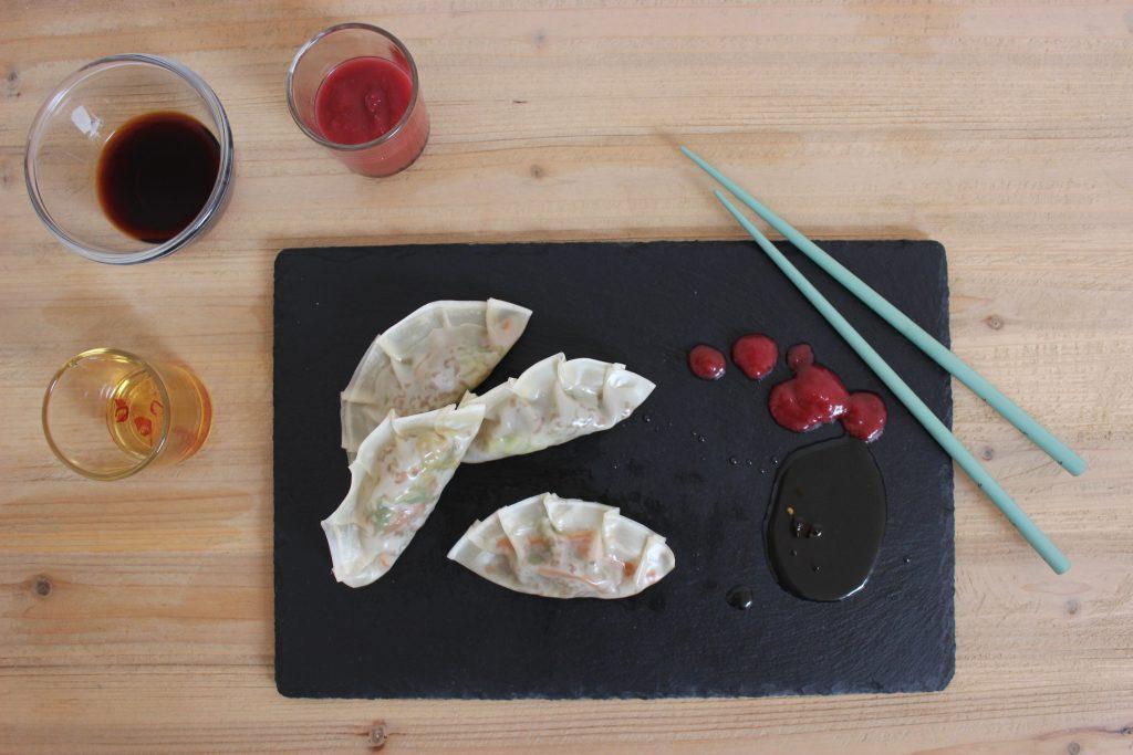 Gyozas - Asiatische, gedämpfte Teigtaschen