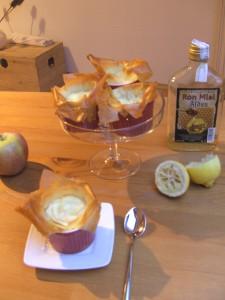 Knusprige Apfel-Cheesecakes
