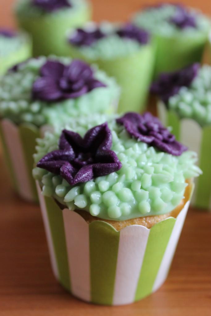 Blütenwiesen--Cupcakes
