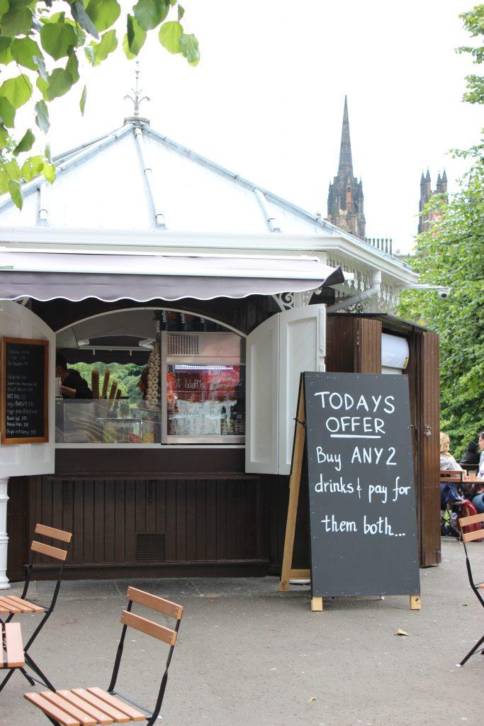 Reisebericht Edinburgh - Schild