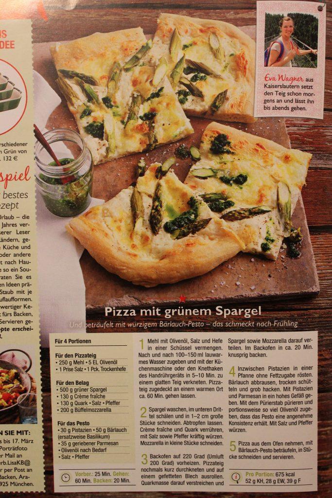 Pizzarezept in der Lisa