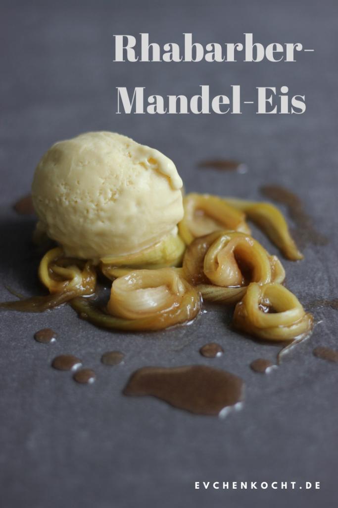 Rhabarber-Mandel-Eis mit und ohne Eismaschine - Rezept mit Schritt-für-Schritt-Anleitung für cremiges Rhabarber-Mandel-Eis - tolles Dessert mit Rhabarber