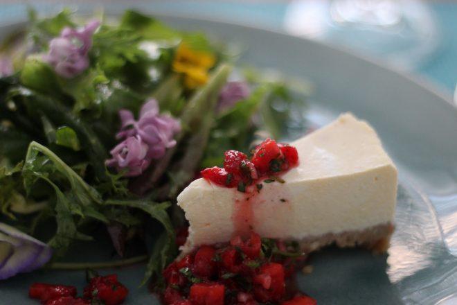 Ziegen-Cheesecake