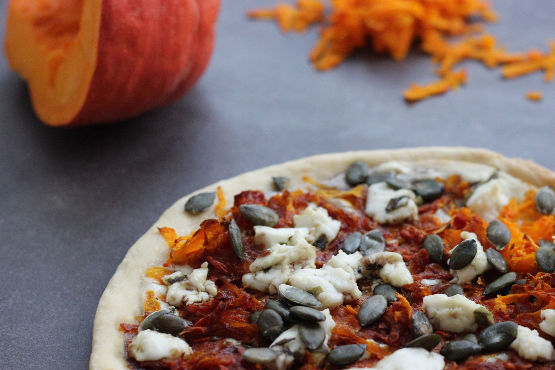 Kürbis-Pizza - für alle die Kürbis UND Pizza lieben