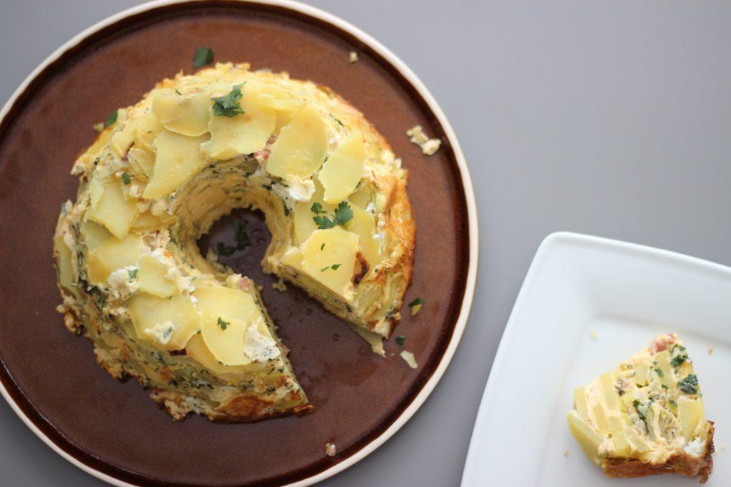 Lauch-Speck-Gugelhupf mit Kartoffeln