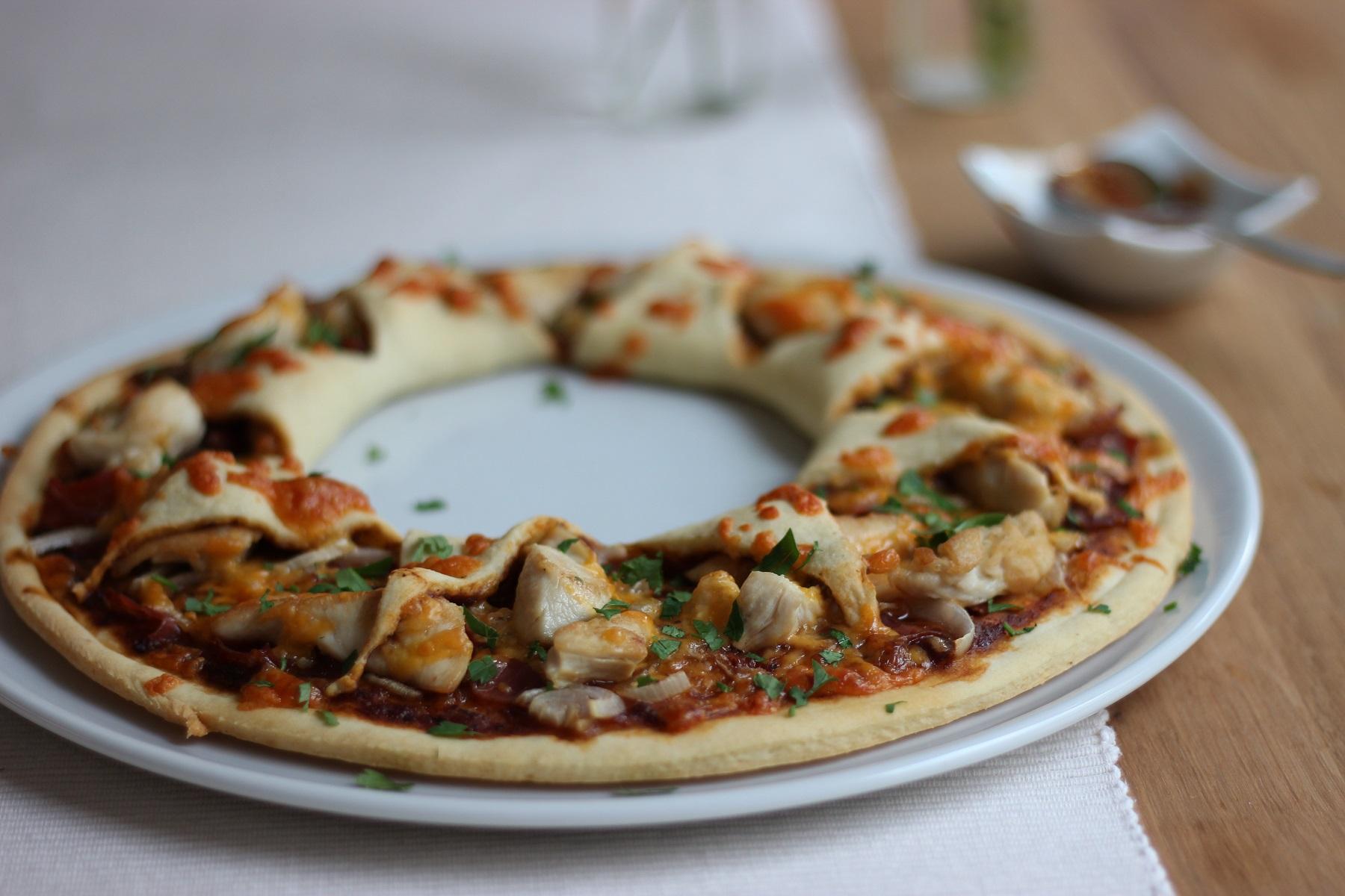 BBQ Chicken Pizza-Sonne - da geht die Sonne auf!