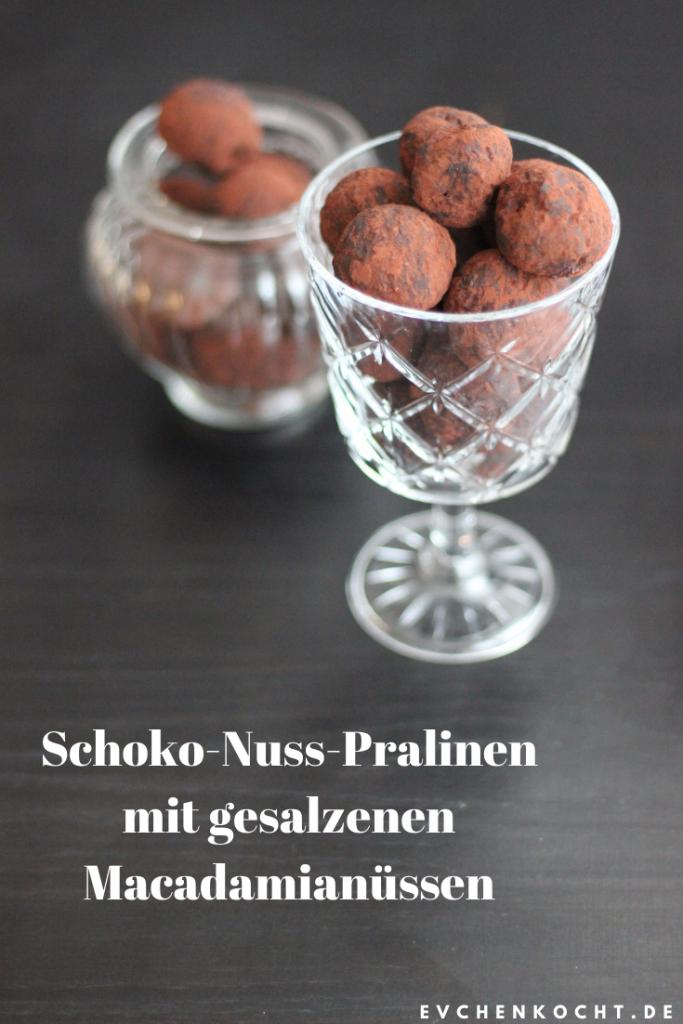 Schoko-Nuss-Pralinen mit gesalzenen Macadamianüssen