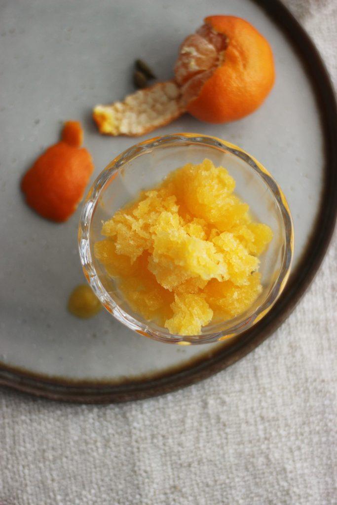 Mandarinen-Granité mit Gin